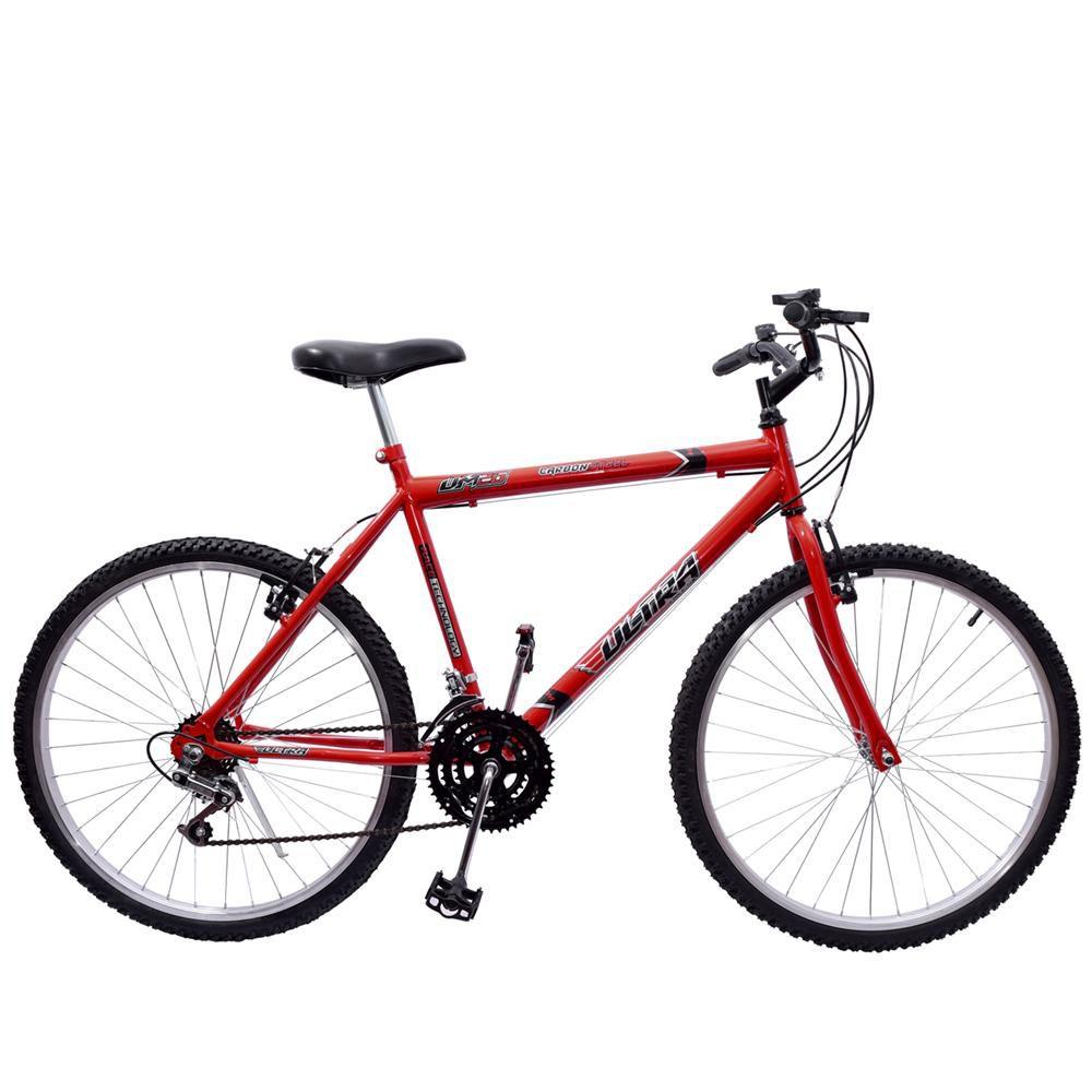 Bicicleta 26 Ultra Aço 18 Marchas Vermelho