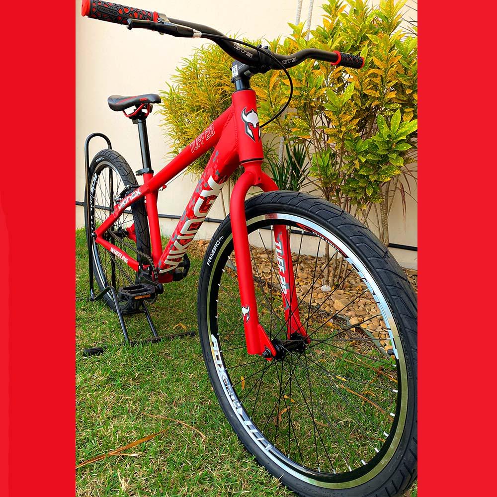 Bicicleta 26 Wheeling Viking Tuff 28 Vermelha V-Brake