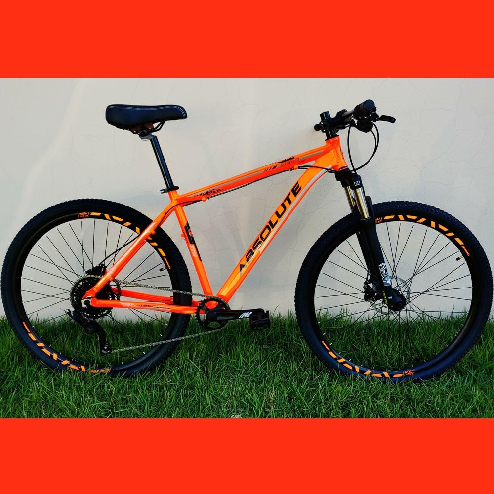 Bicicleta 29 Absolute Nero 1x9 Microshift Laranja Tamanho 19