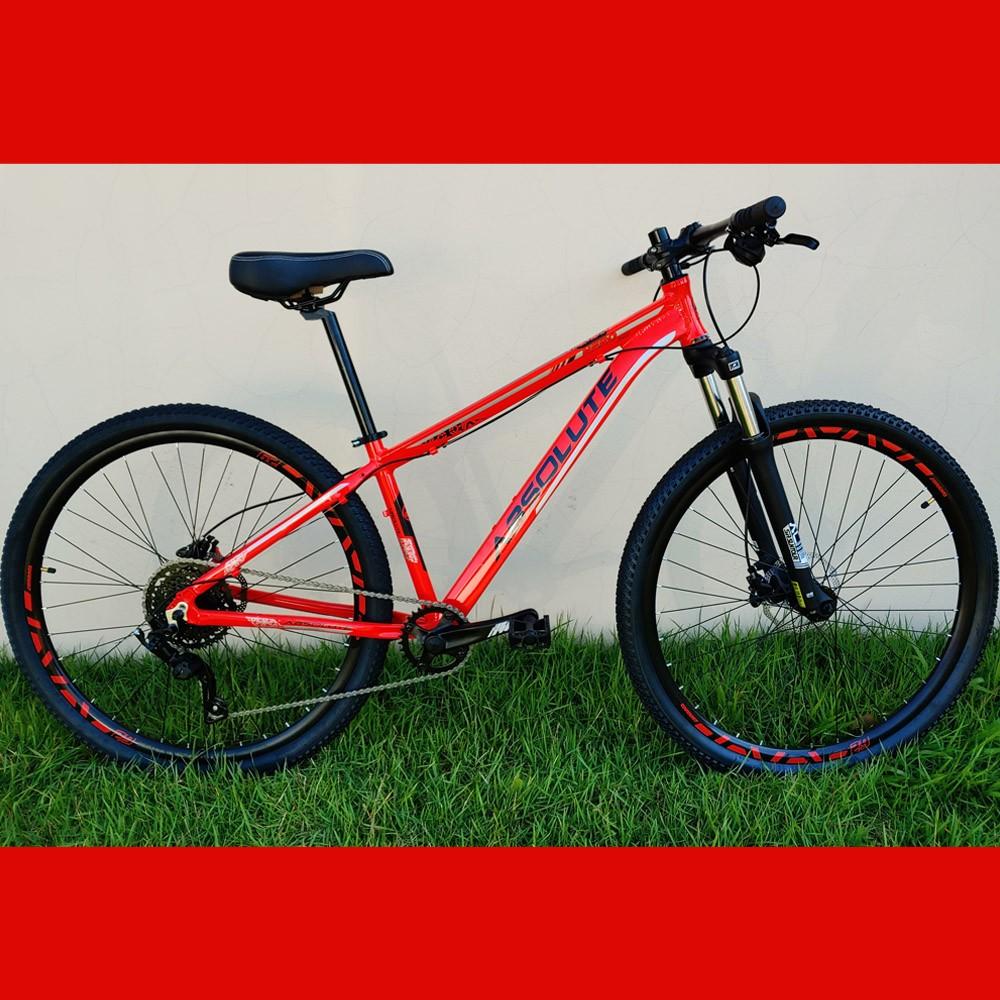 Bicicleta 29 Absolute Nero 1x9 Microshift Vermelho Tamanho 15