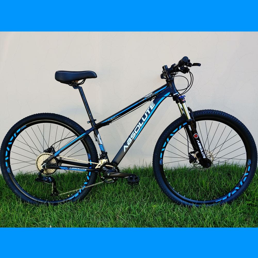 Bicicleta 29 Absolute Nero 20 Velocidades Preto/Azul Tamanho 15