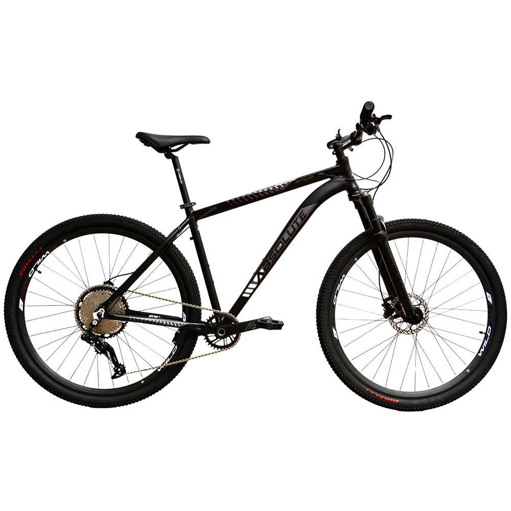Bicicleta 29 Absolute Wild Prime 1x12 Preto e Prata Tamanho 19