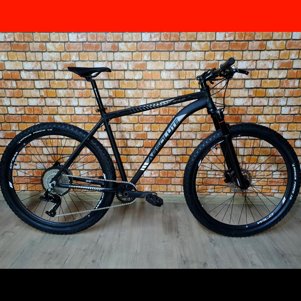 Bicicleta 29 Absolute Wild Prime 1x12 Preto e Prata Tamanho 21