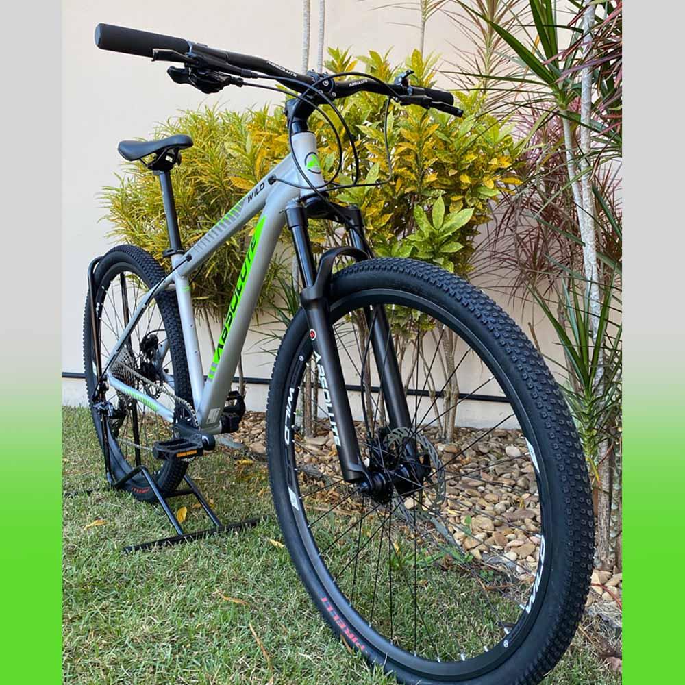 Bicicleta 29 Absolute Wild Start 1x12 Prata e Verde Tamanho 17