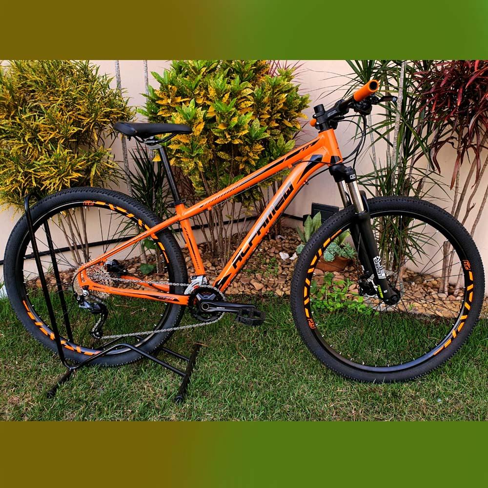 Bicicleta 29 Alfameq Shimano Altus 2x9 Laranja/Preto Tamanho 15