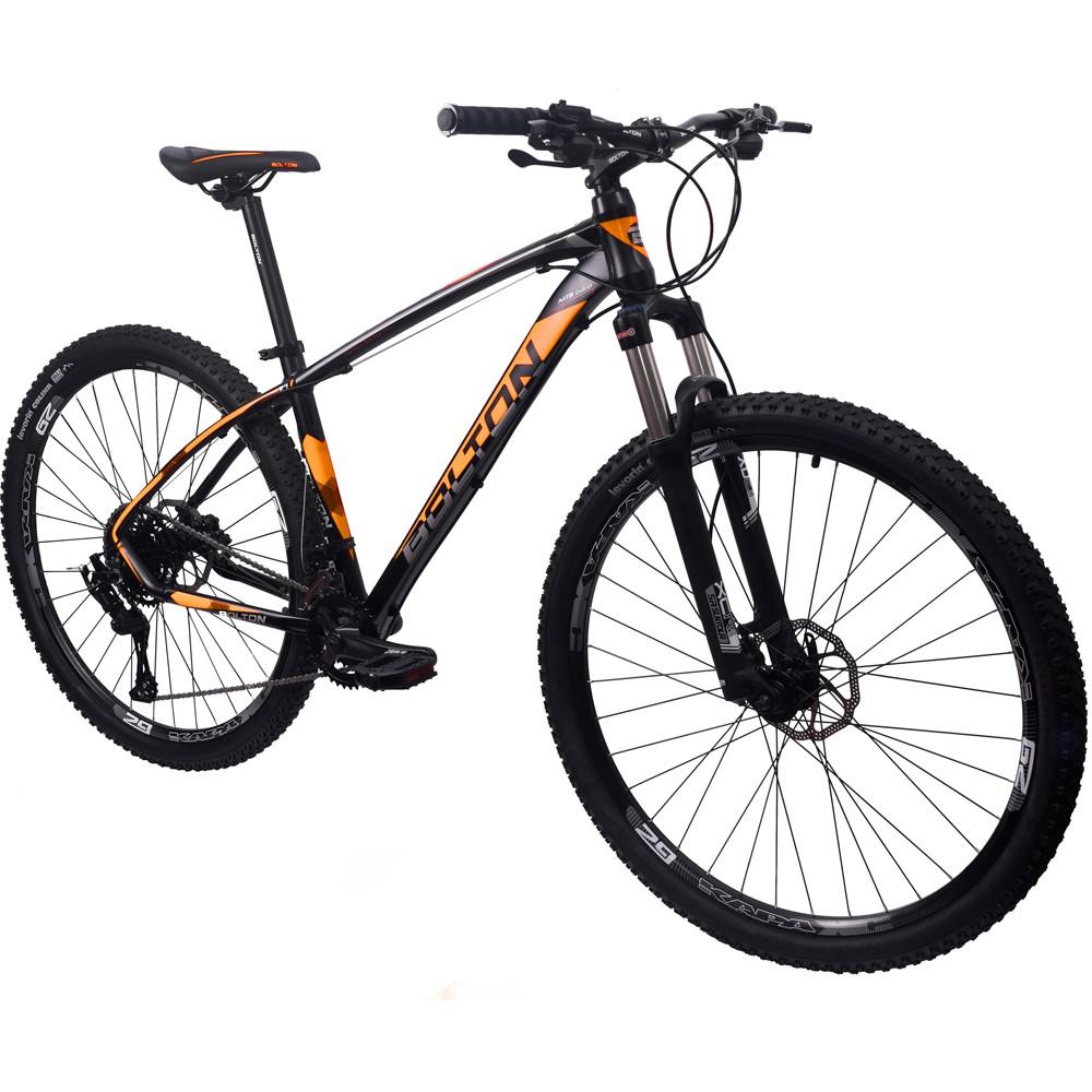 Bicicleta 29 Bolton Microshift 2x9 F. Hidraulico Preto e Laranja 19