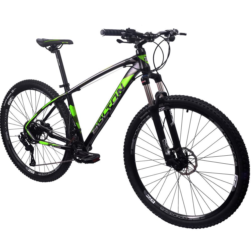 Bicicleta 29 Bolton Microshift 2x9 F. Hidraulico Preto e Verde 19