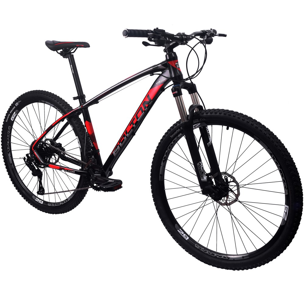 Bicicleta 29 Bolton Microshift 2x9 F. Hidraulico Preto e Vermelho 17