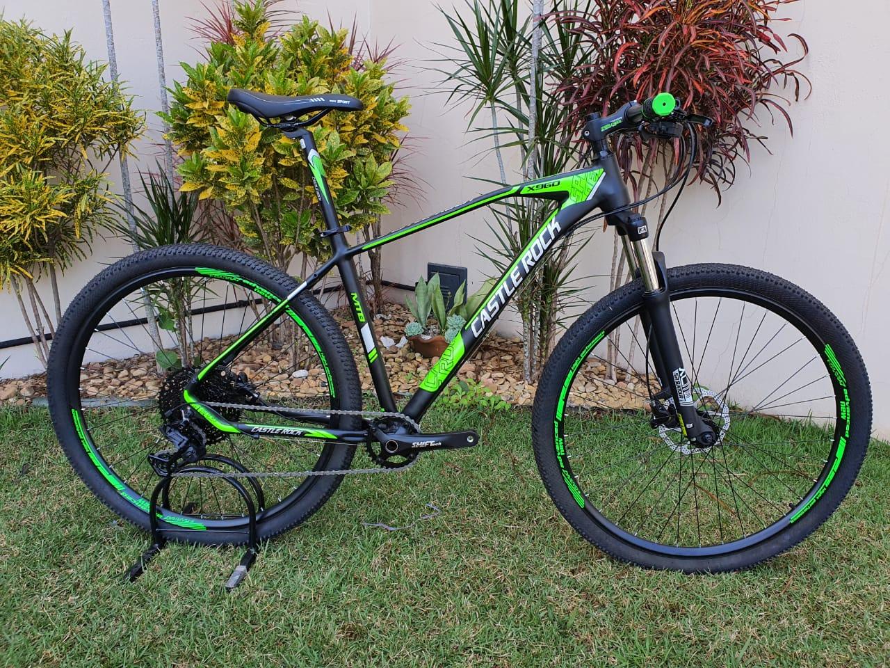 Bicicleta 29 Castle Rock 10 Velocidades Preto e Verde Tamanho 19