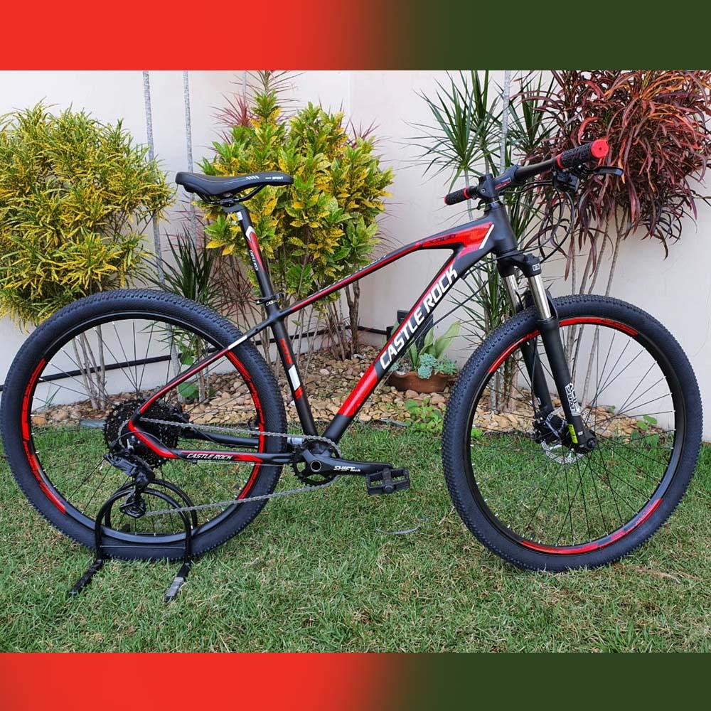 Bicicleta 29 Castle Rock 10 Velocidades Preto e Vermelho Tamanho 17