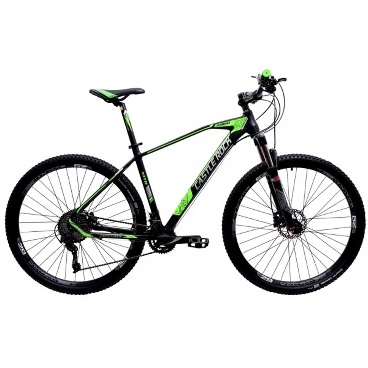 Bicicleta 29 Castle Rock 20V Microshift Preto e Verde