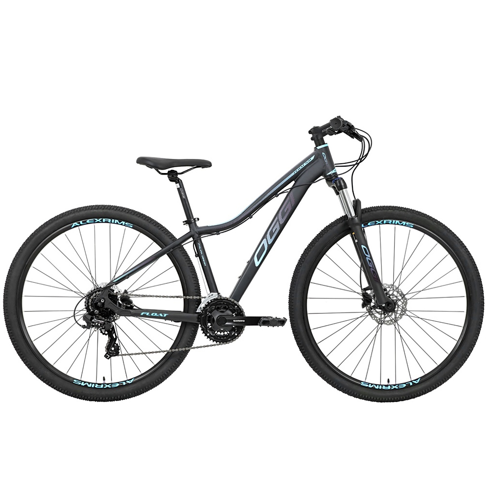 Bicicleta 29 Feminina Oggi Float 5.0 HDS Tamanho 15.5 Preto Azul/Pink