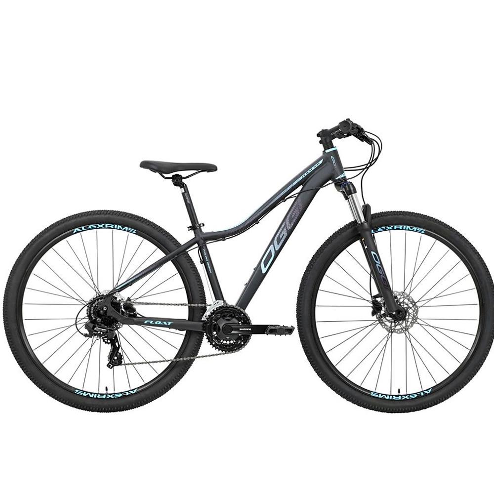 Bicicleta 29 Feminina Oggi Float 5.0 HDS Tamanho 17 Preta e Azul