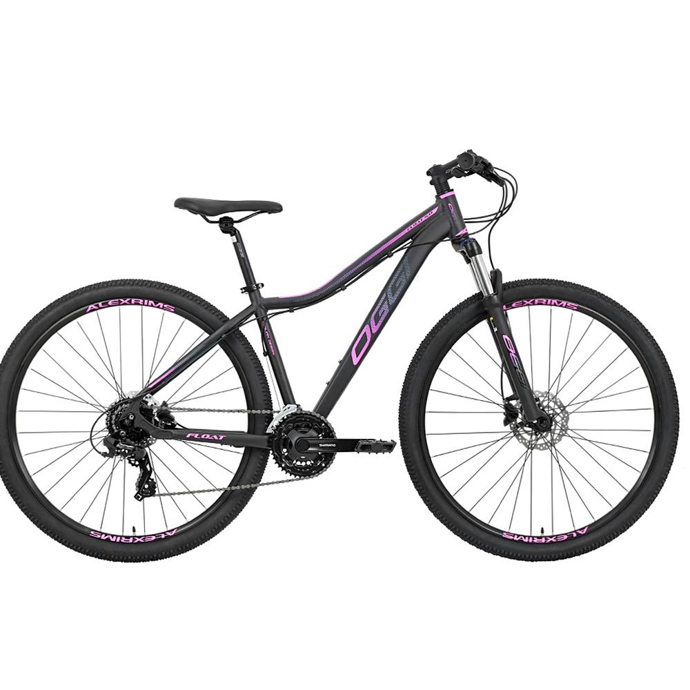 Bicicleta 29 Feminina Oggi Float 5.0 HDS Tamanho 17 Preta e Pink