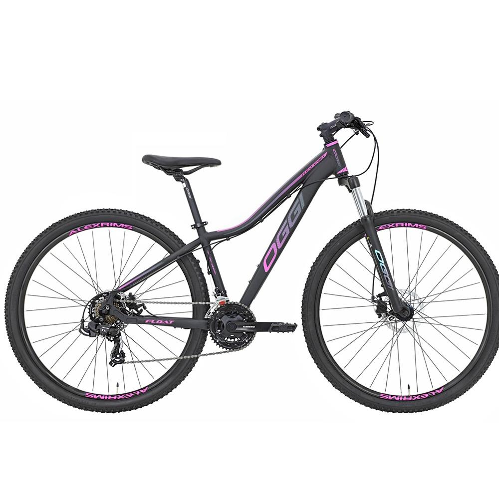 Bicicleta 29 Feminina Oggi Float Sport Tamanho 17 Preta e Pink