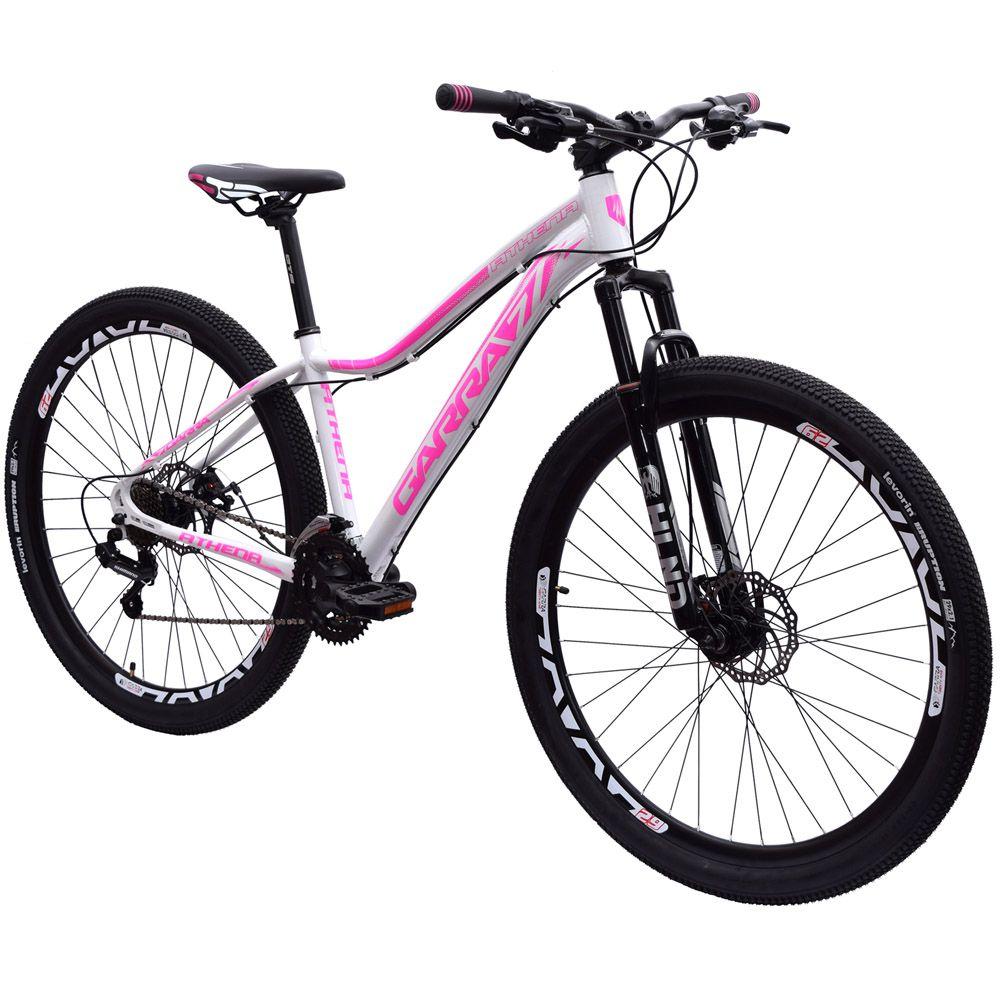 Bicicleta 29 Garra7 Athena Shimano 21 Marchas Tamanho 17 Branca