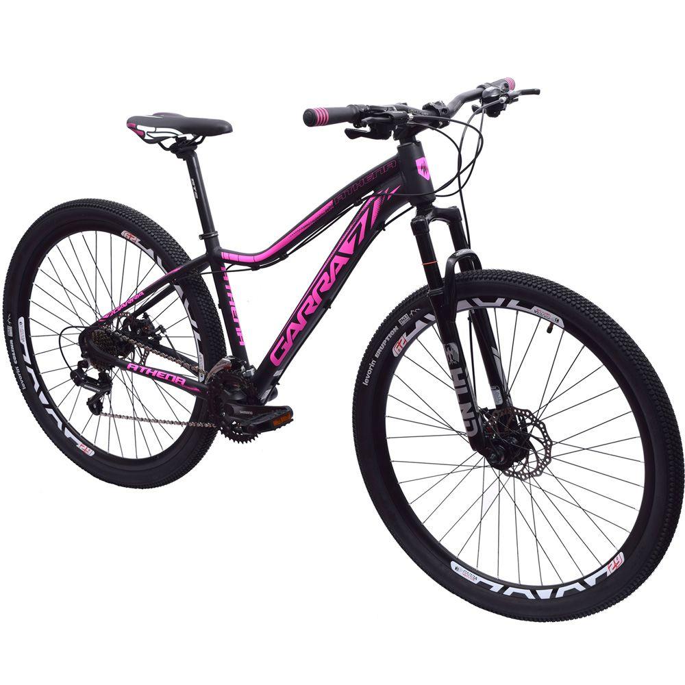 Bicicleta 29 Garra7 Athena Shimano 21v Tamanho 17 Preto Fosco