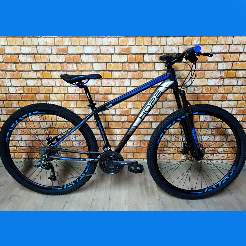 Bicicleta 29 Hope 24 Velocidades Freios GTS tamanho 17 Preto/Azul