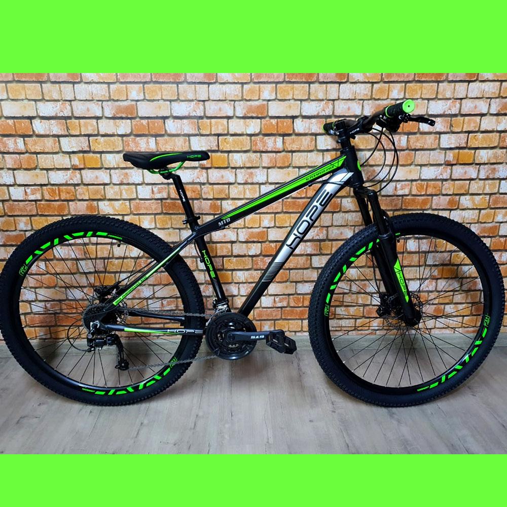 Bicicleta 29 Hope 24 Velocidades Freios GTS tamanho 17 Preto/Verde