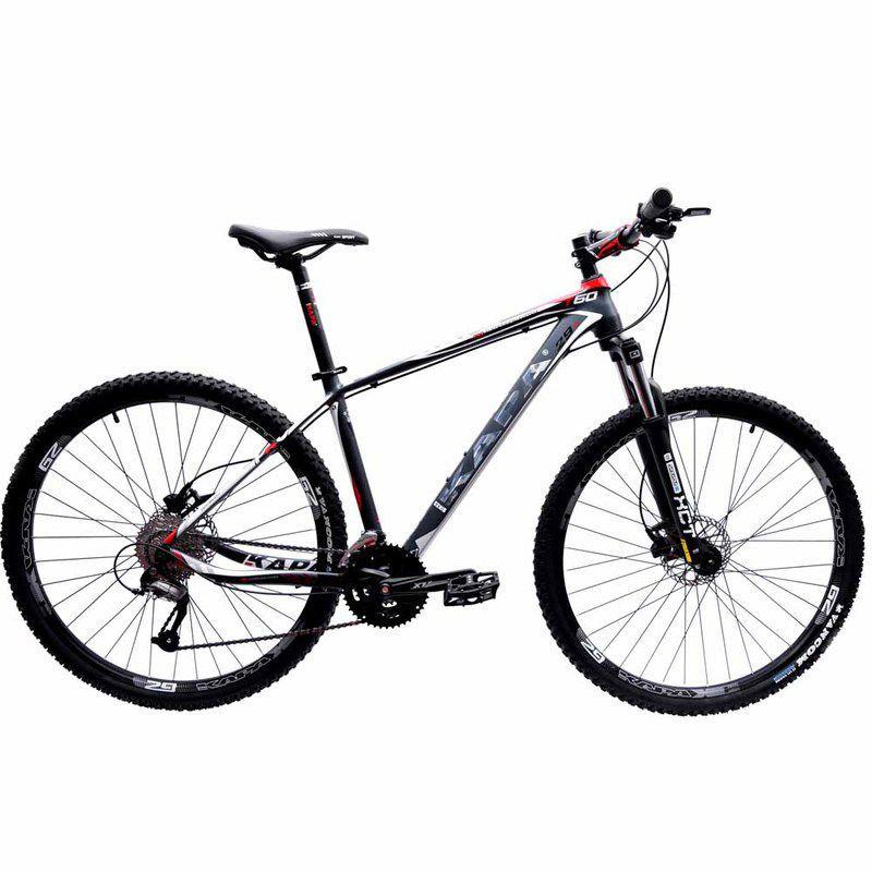Bicicleta 29 Kapa Bikes T60 Shimano Altus 27V Hidraulico 17.5 Cinza