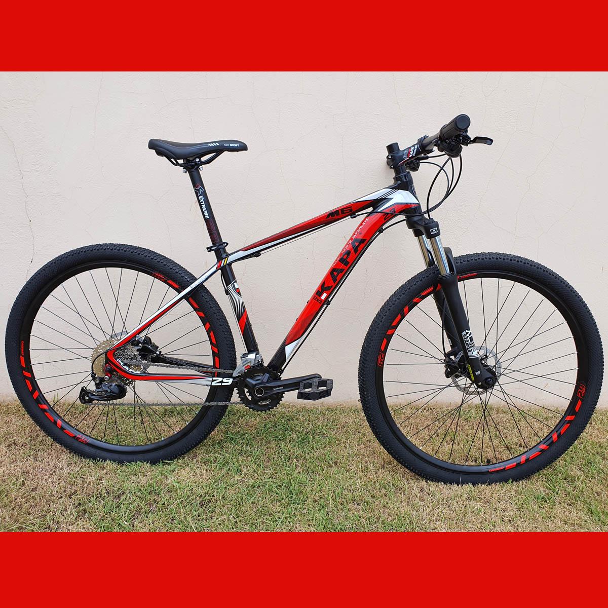 Bicicleta 29 KAPA M6 2x9 Shimano Altus 17.5 Vermelho