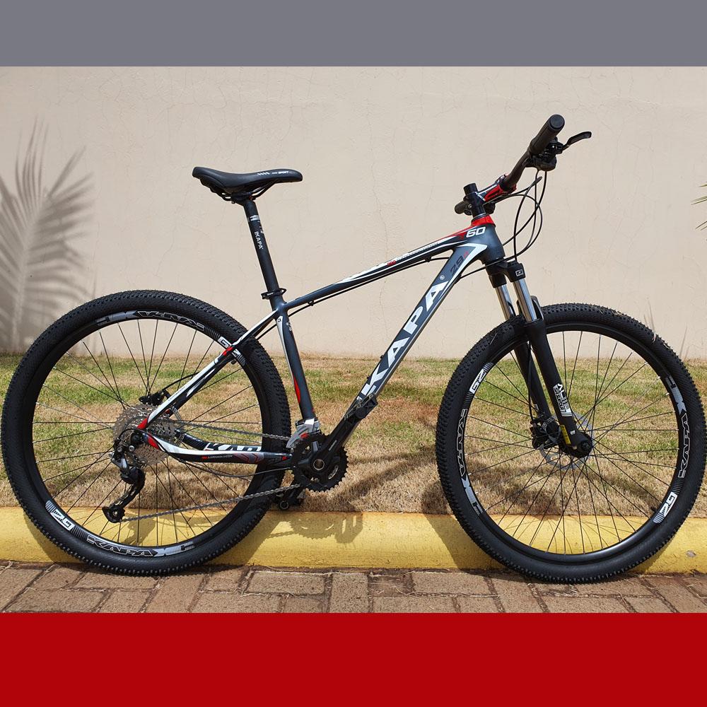 Bicicleta 29 KAPA T-60 2x9 Shimano Altus 17.5 Cinza e Vermelho