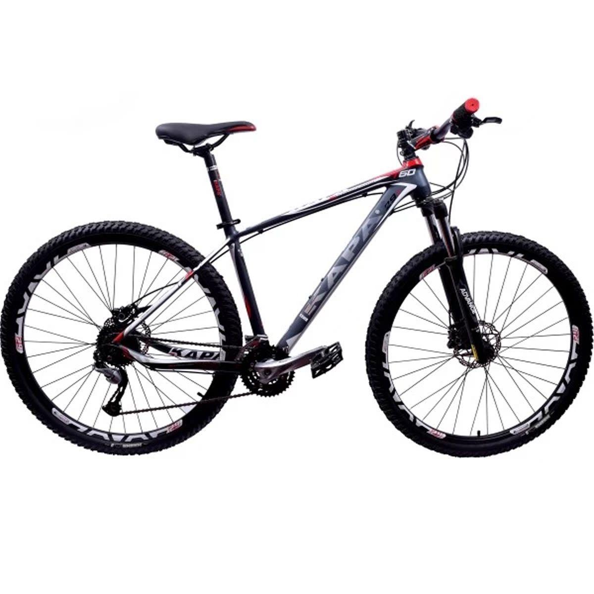 Bicicleta 29 Kapa T-60 Shimano Acera 27v Tamanho 17.5 Cinza