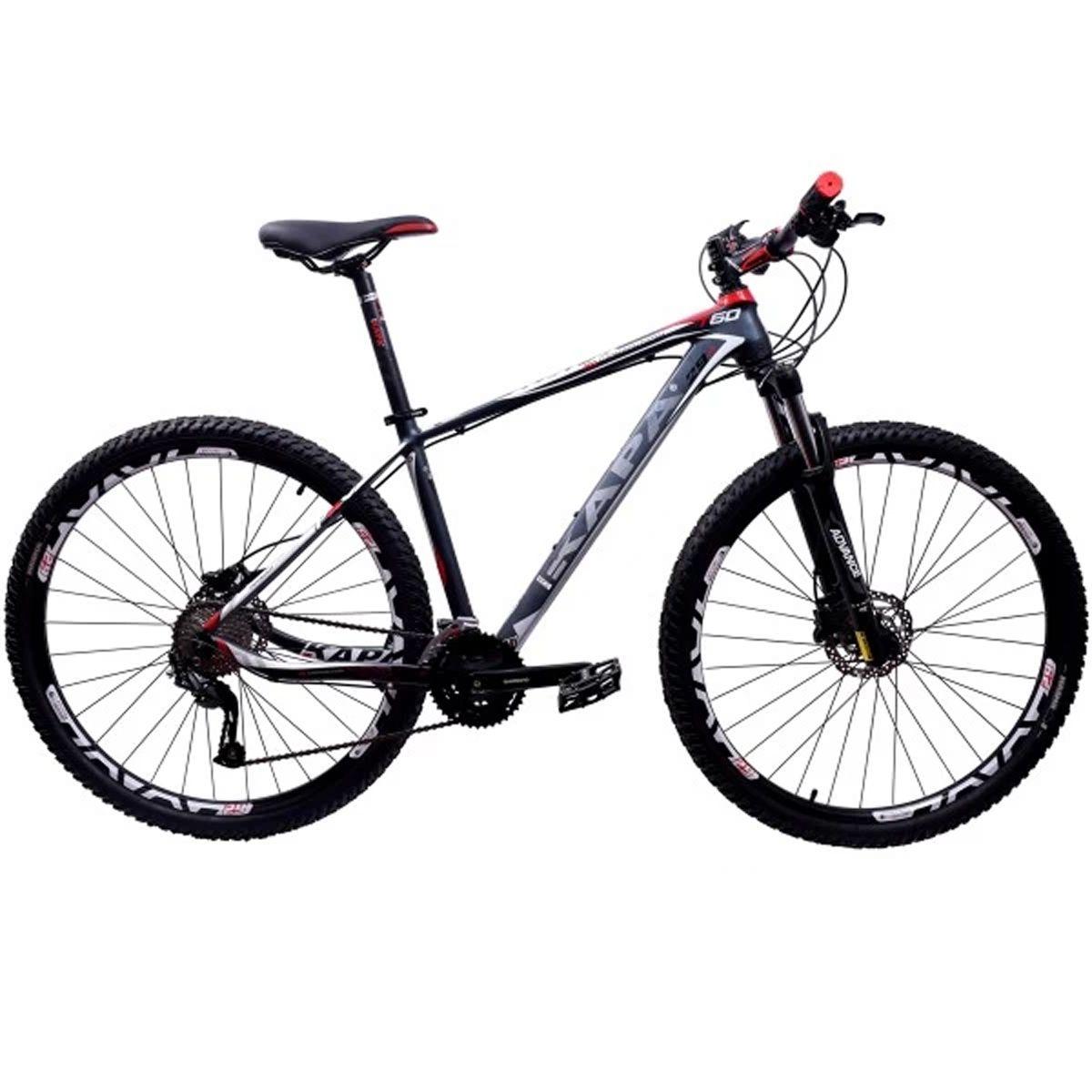 Bicicleta 29 Kapa T-60 Shimano Altus 27v Tamanho 17.5 Cinza