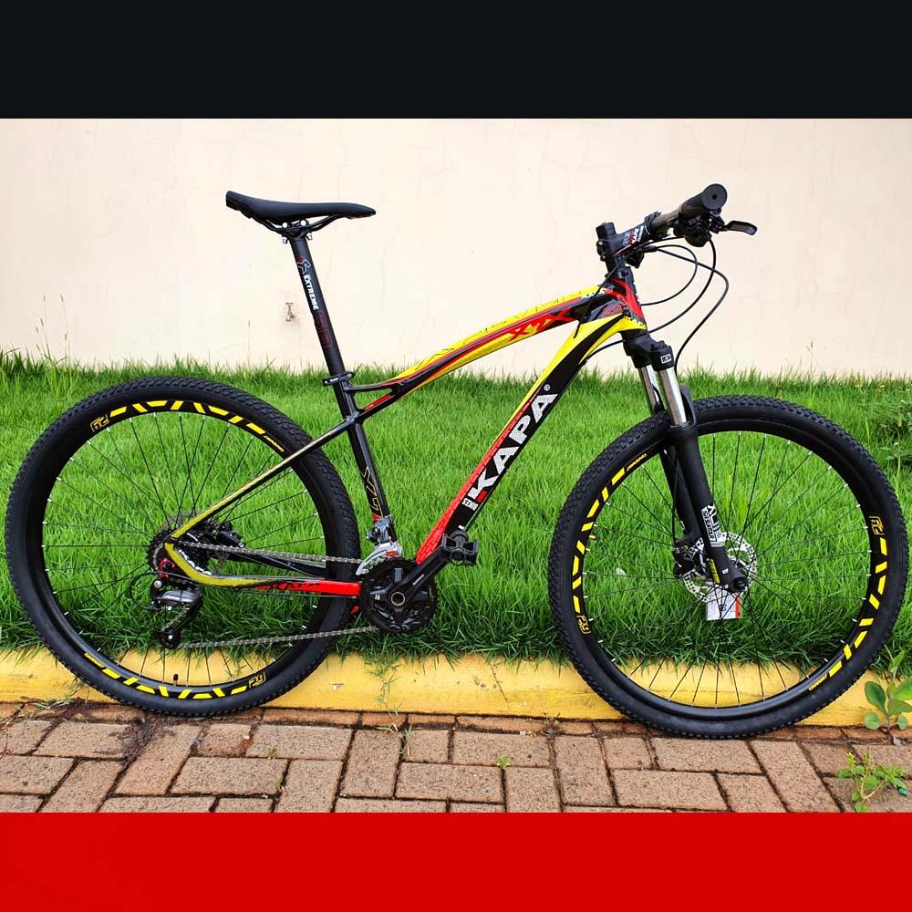 Bicicleta 29 KAPA X7 Shimano Altus 27 Velocidades Tamanho 17.5