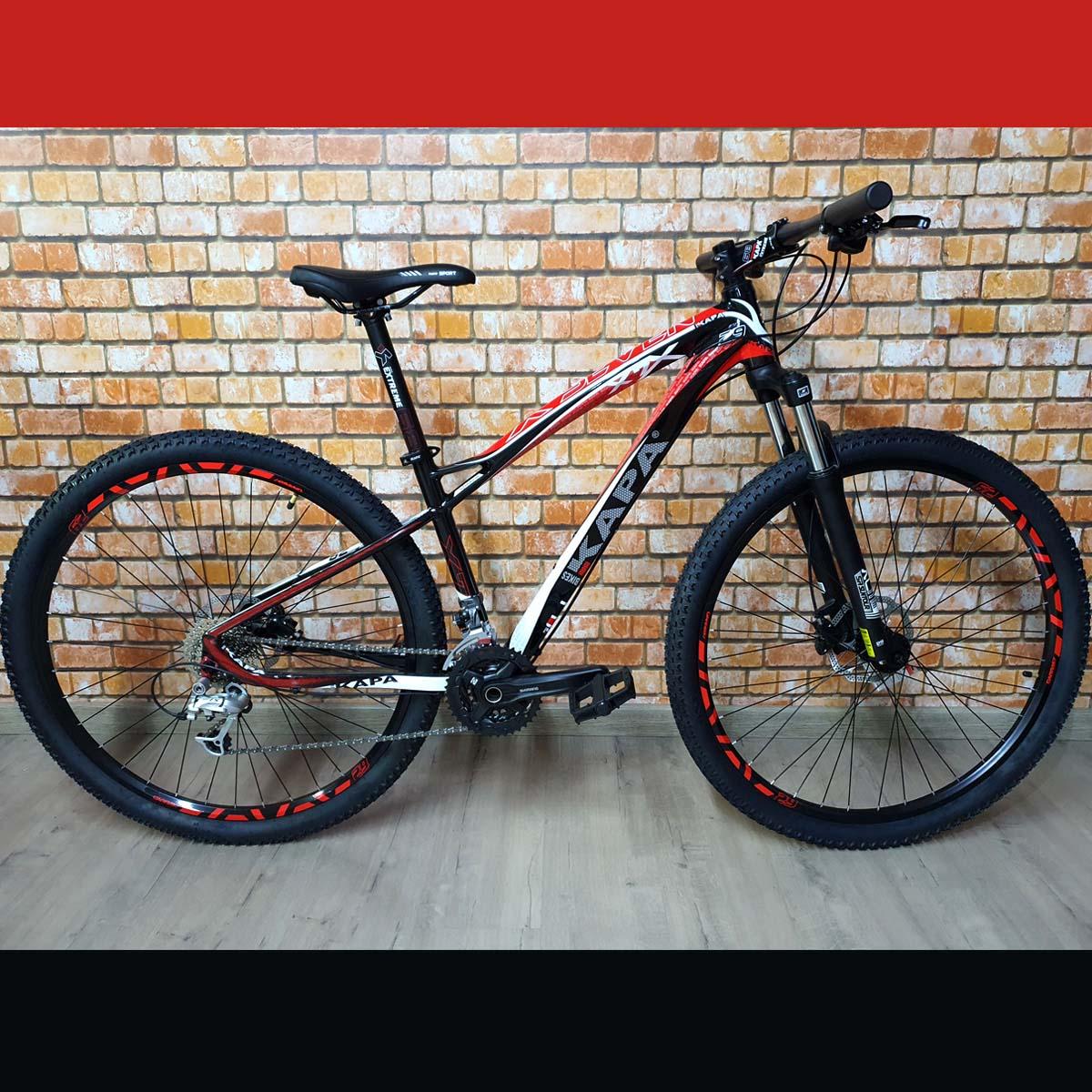 Bicicleta 29 Kapa X7 Shimano Deore 27v Tamanho 16 Preto/verm