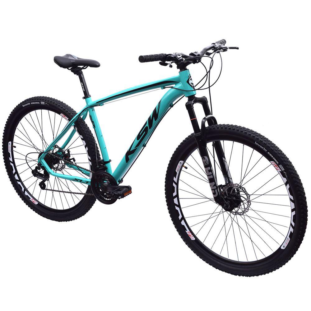 Bicicleta 29 KSW XLT Shimano 21 velocidades Tamanho 19 Azul