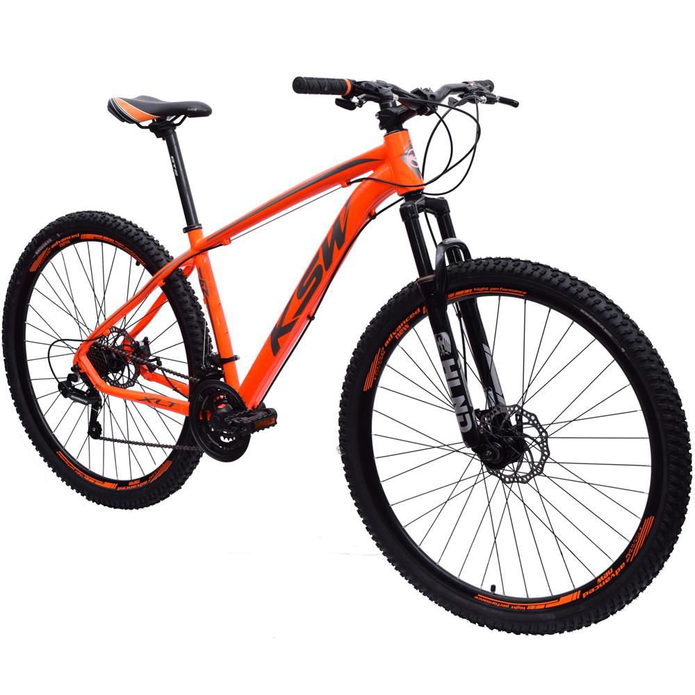Bicicleta 29 KSW XLT Shimano 21 velocidades Tamanho 19 Laranja