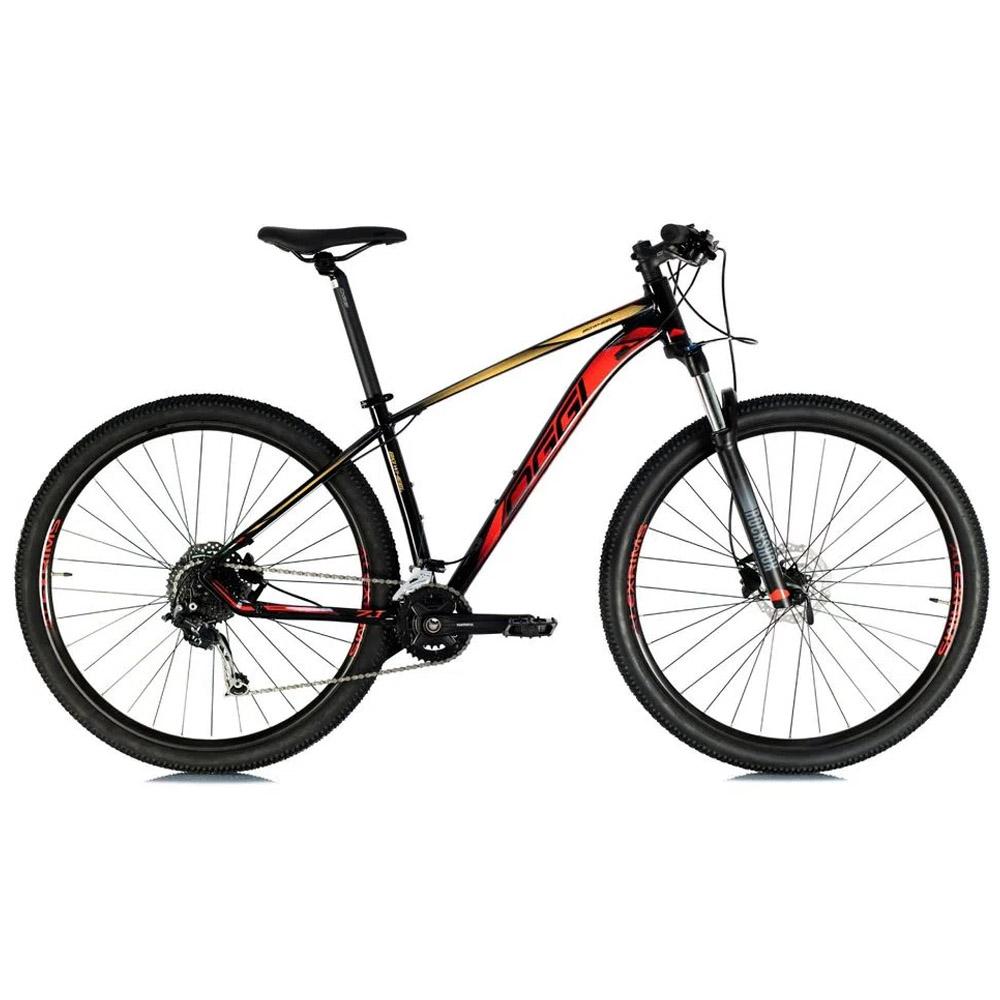 Bicicleta 29 Oggi 7.1 2021 Shimano 18 Velocidades Preto e Vermelho Tam. 21