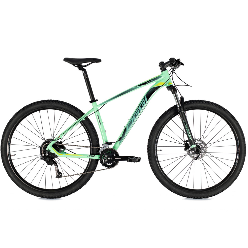 Bicicleta 29 Oggi Big Wheel 7.0 18V 2021Shimano Verde e Preto 17