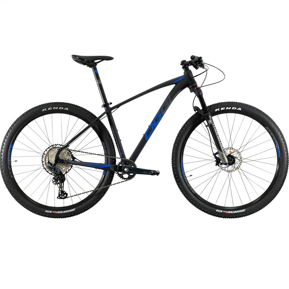 Bicicleta 29 Oggi Big wheel 7.4 12 Velocidades Preto e Azul Tamanho 17