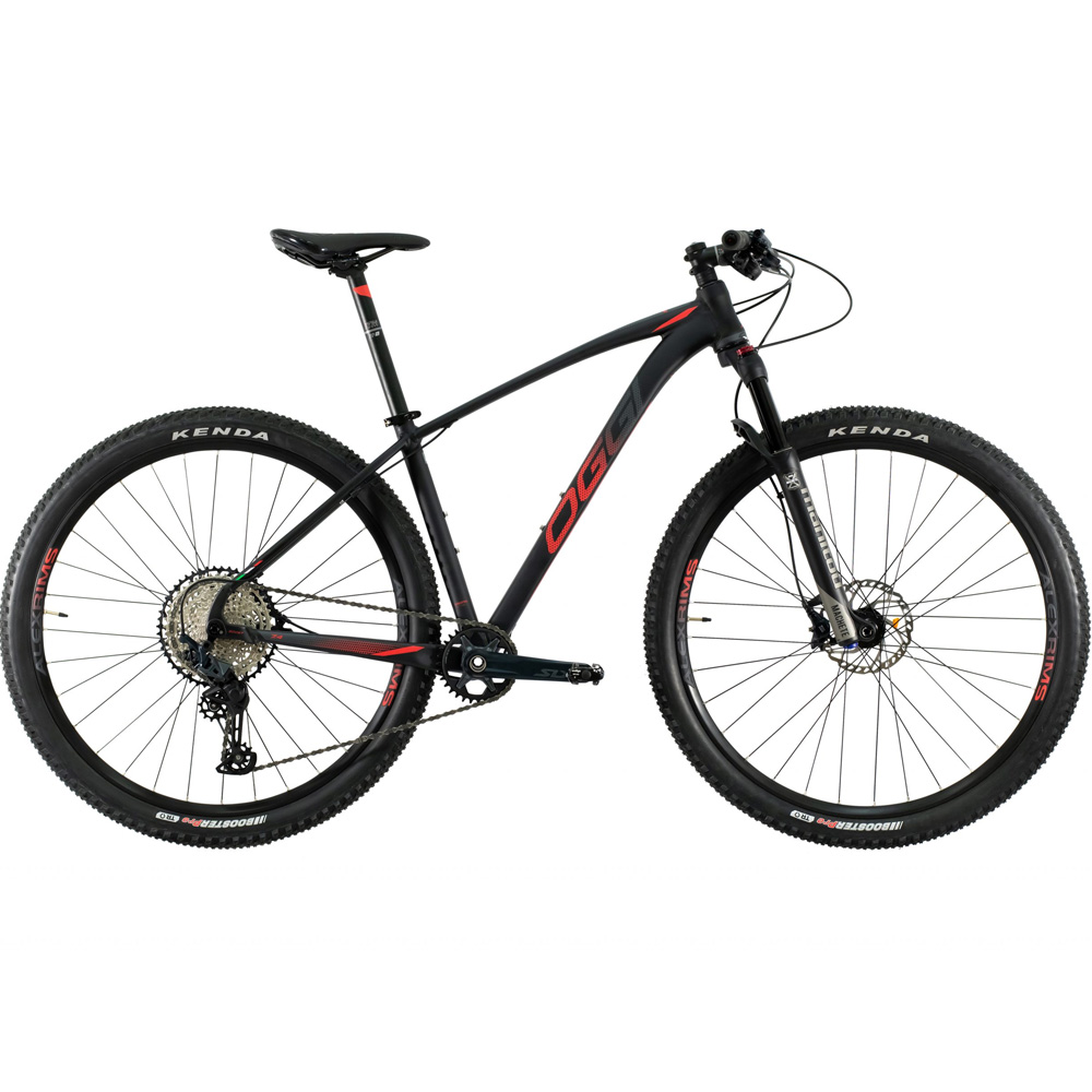 Bicicleta 29 Oggi Big wheel 7.4 12 Velocidades Preto Vermelho Tamanho 17