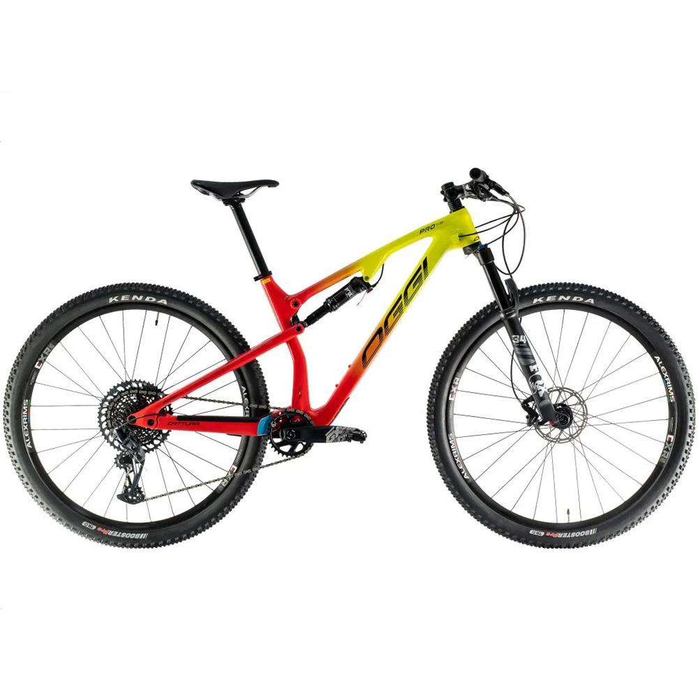 Bicicleta 29 Oggi Cattura Pro 2021 Carbono Sram GX Vermelho Amarelo
