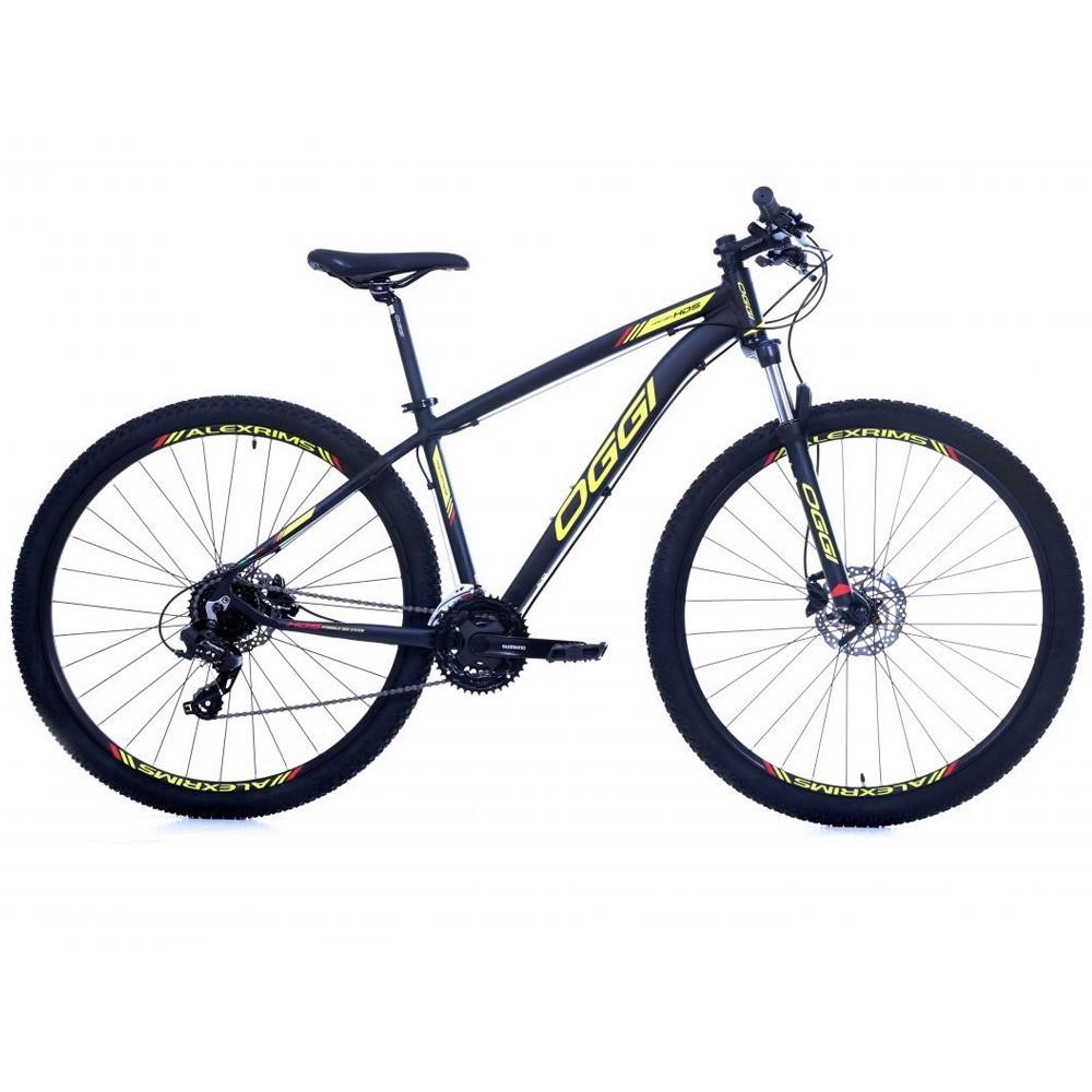 Bicicleta 29 Oggi Hacker HDS Aro 29 Tamanho 17 Preto Lime