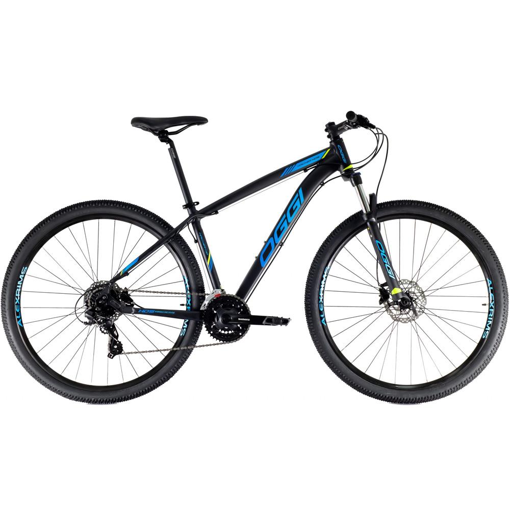Bicicleta 29 Oggi Hacker HDS Aro 29 Tamanho 19 Preto e Azul