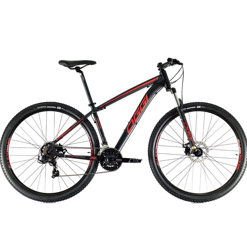 Bicicleta 29 Oggi Hacker Sport 21 Velocidades Preto/Vermelho Tamanho 19