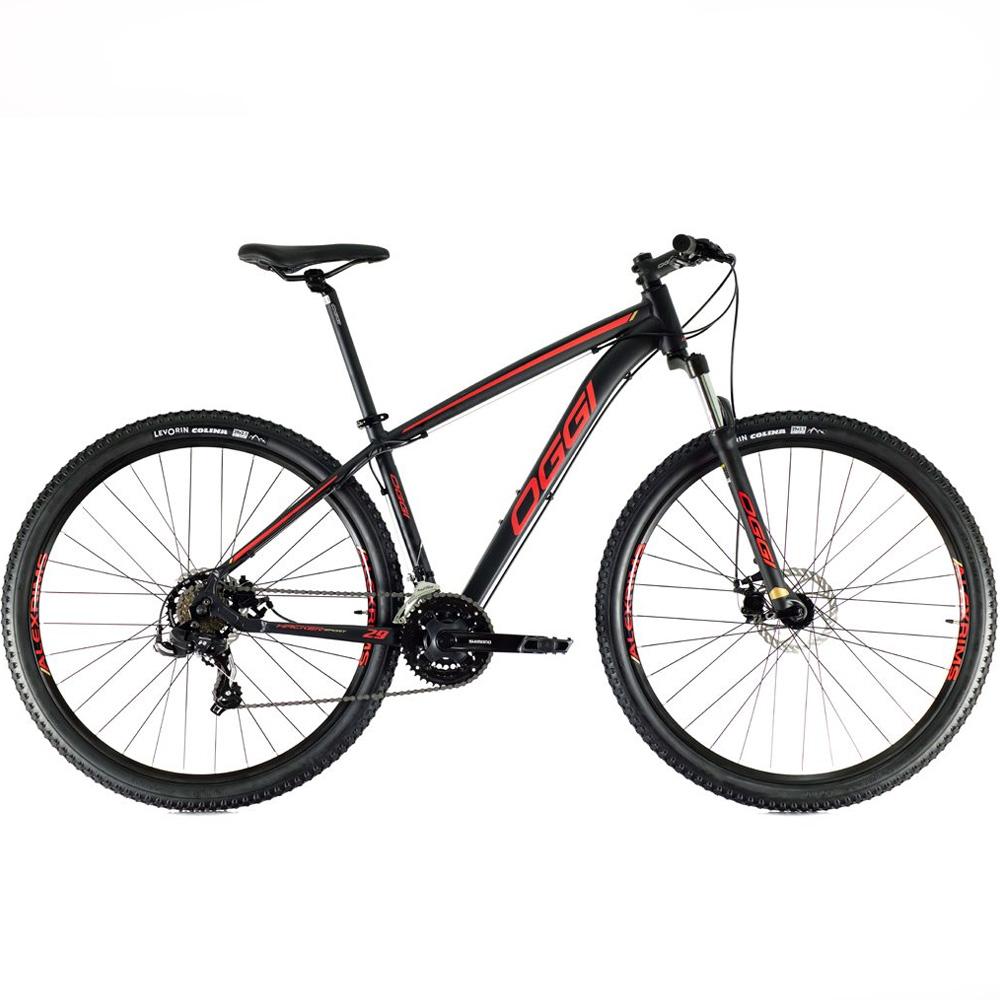 Bicicleta 29 Oggi Hacker Sport 21 Velocidades Preto/Vermelho Tamanho 17