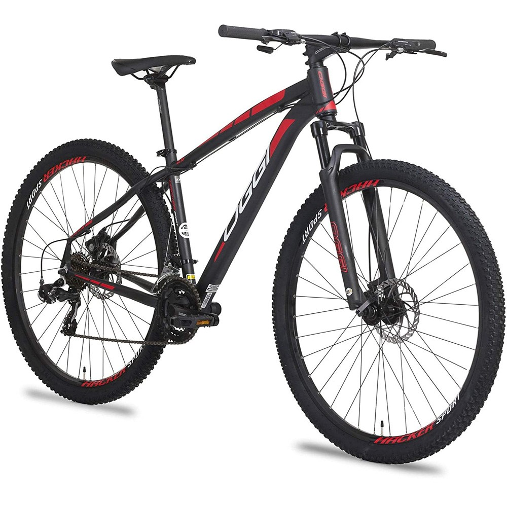Bicicleta 29 Oggi Hacker Sport 21 Velocidades Shimano Tamanho 17