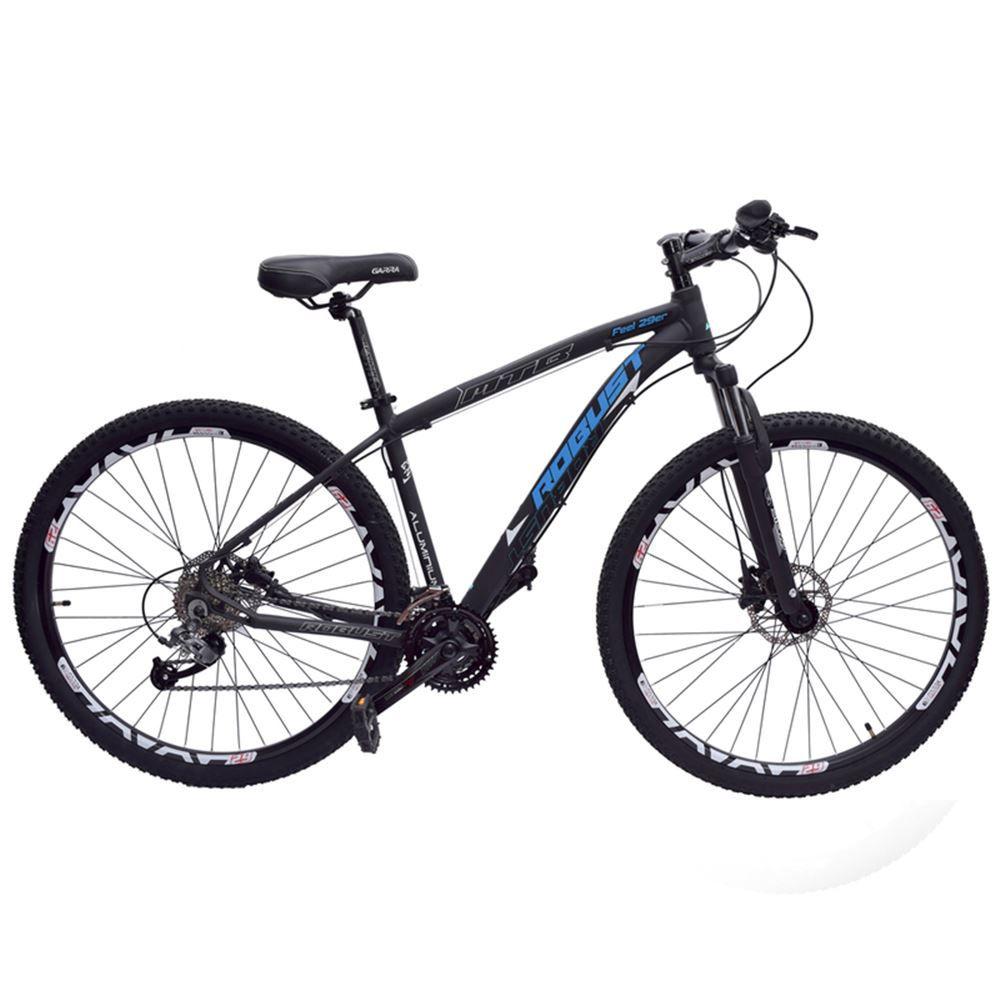 Bicicleta 29 Robust 27v Tamanho 16 Hidráulico Preto e Azul