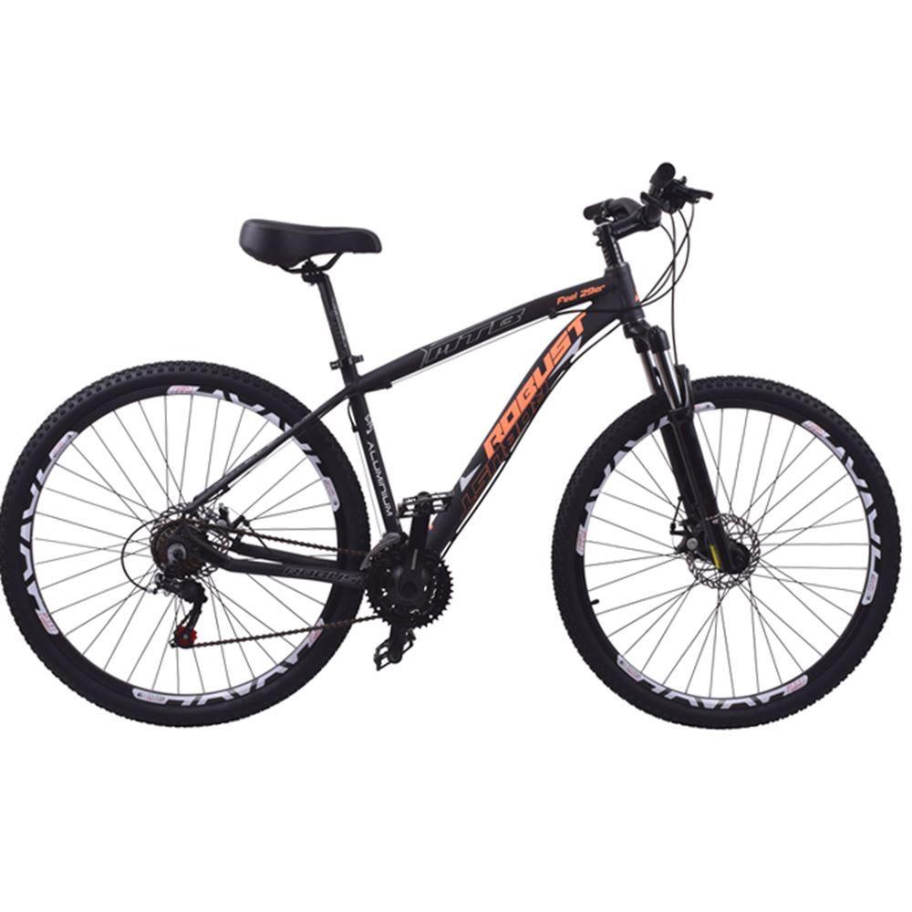 Bicicleta 29 Robust 27v Tamanho 16 Hidráulico Preto e Lar