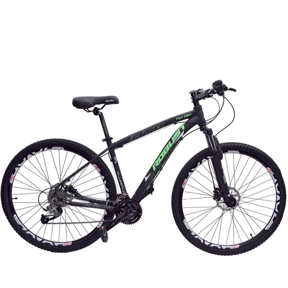 Bicicleta 29 Robust 27v Tamanho 18 Hidráulico Preta e Verde
