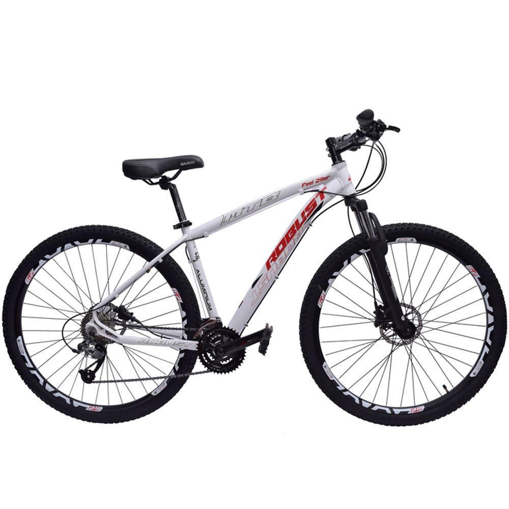 Bicicleta 29 Robust 27v Tamanho 20 Hidráulico Branca e Verm