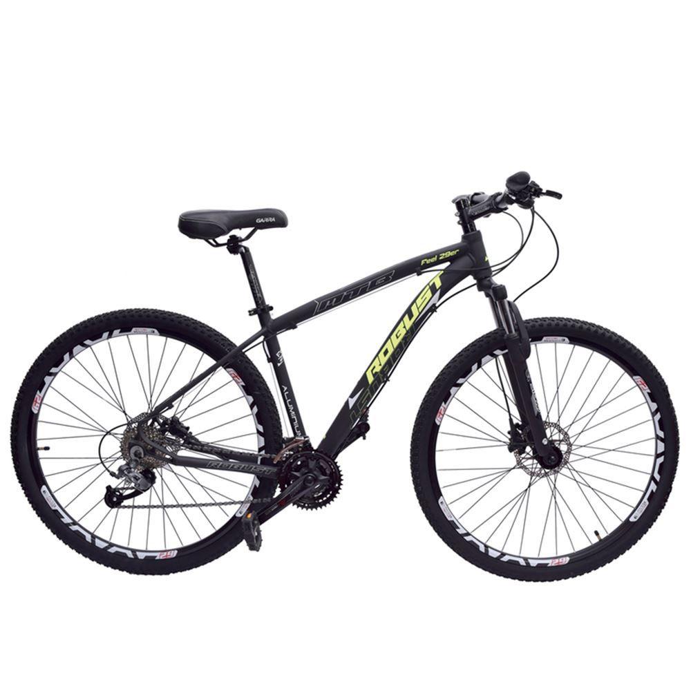 Bicicleta 29 Robust 27v Tamanho 20 Hidráulico Preto e Amarelo