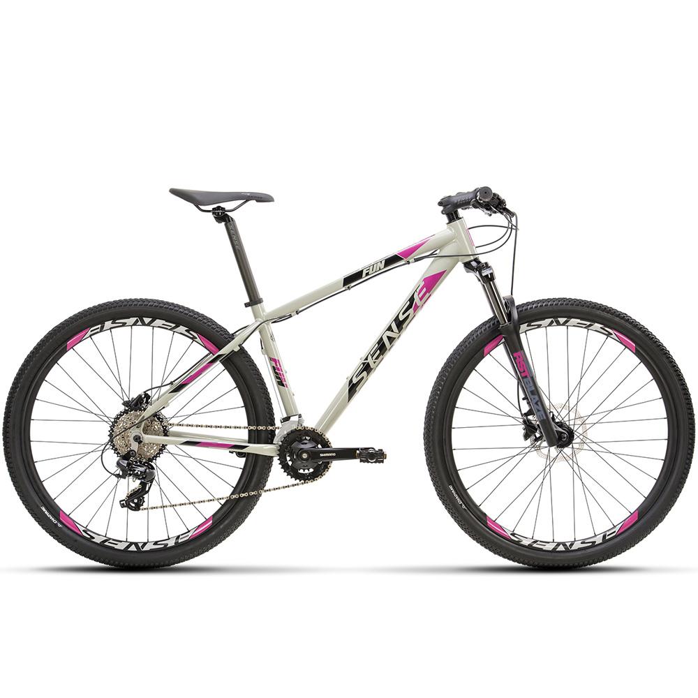 Bicicleta 29 Sense Fun Comp 2021 16 Marchas Cinza e Roxo Tamanho M