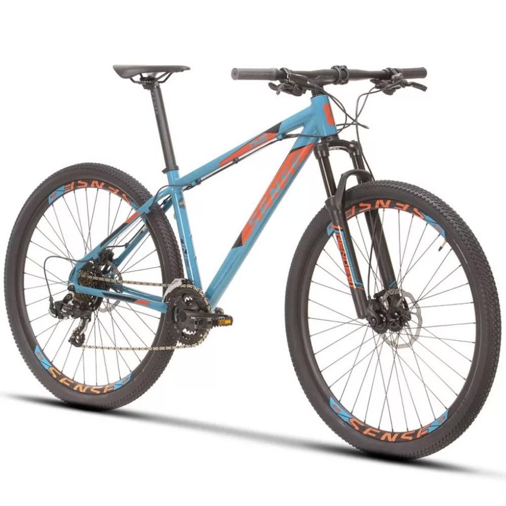 Bicicleta 29 Sense One 2021/22 Aqua e Laranja Tamanho L