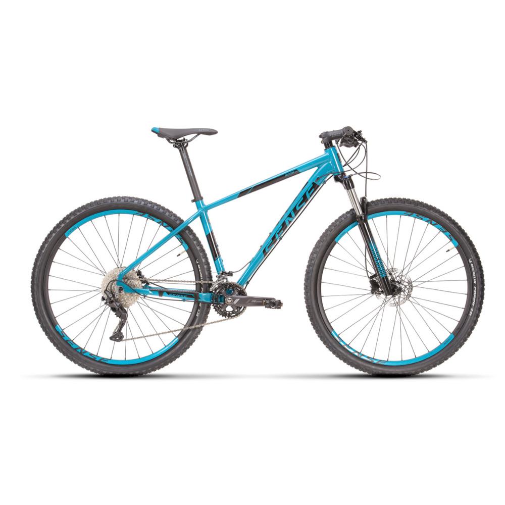 Bicicleta 29 Sense Rock Evo 2021/22 Aqua e Preto Tamanho M